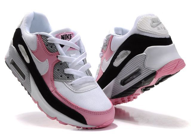 Air Max 90 Women Pink White Black For Sale - $67.89