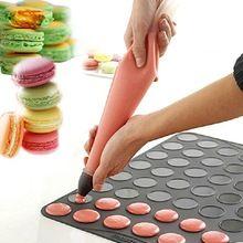Бесплатная доставка большой размер Macaron силиконовый мат Macarons торт булочки шоколадный торт плесень отделка крем коврик кухонный инвентарь
