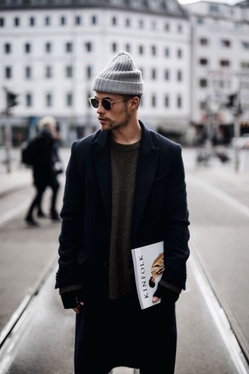 48acc6c0c Men's Street Style | Beanies for Men | Slouchy Beanie, Mens Beanie ...