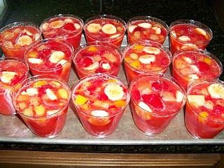fruit drinks fruit cups healthy