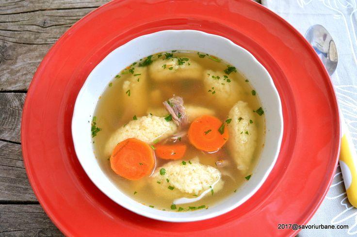 Supa cu galuste de gris pufoase reteta traditionala savori urbane
