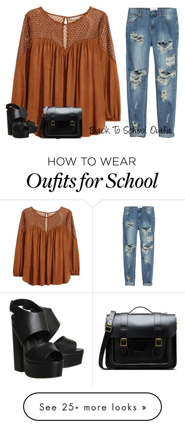 """Back To School Outfit"" by natailehoran on Polyvore featuring H&M, One Teaspoon, Office and Dr. Martens"