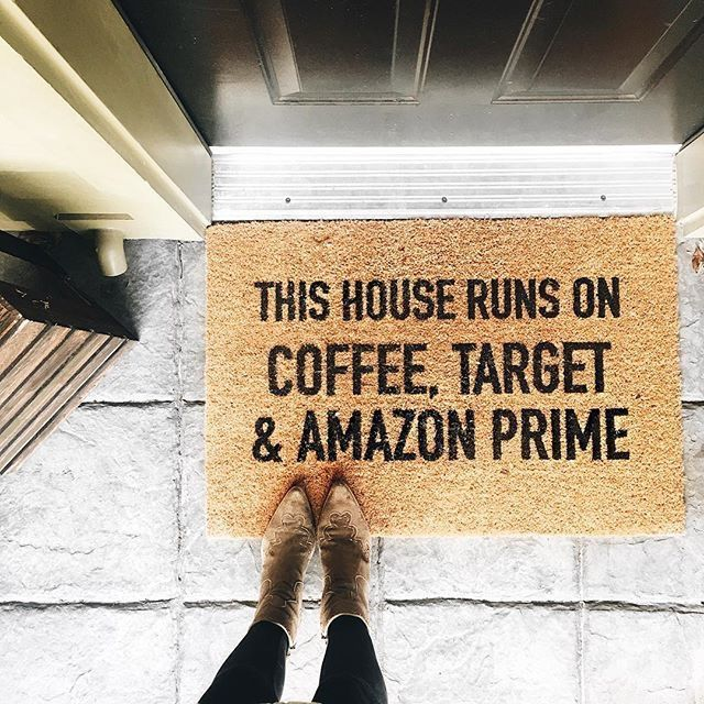 Ours would read:  coffee, tjmaxx & amazon prime!!!
