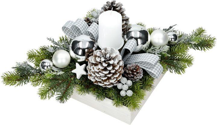 Stroik Bozonarodzeniowy Swiateczny 50cm Na Stol S4 7038894323 Oficjalne Archiwum Allegro Christmas Flower Arrangements Christmas Ornaments Christmas Centerpieces