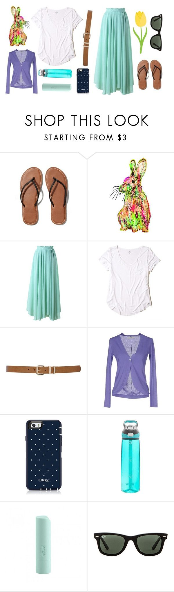 """""""Happy Easter Y'all!!"""" by im-a-jeans-and-boots-kinda-girl ❤ liked on Polyvore featuring Abercrombie & Fitch, Chicwish, Hollister Co., M&Co, Alpha Studio, Contigo, Eos and Ray-Ban"""