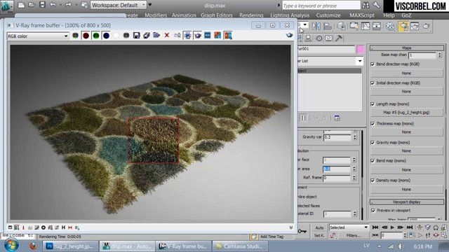 How to create nice rugs and carpets with max and vray 02?
