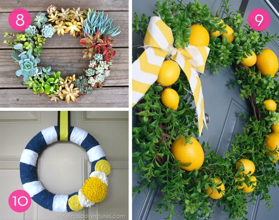 Roundup: 10 Colorful DIY Summer Wreaths » Curbly | DIY Design Community