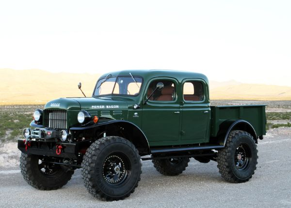 Another sweet restoration from the guys at Legacy Classic Trucks. We are really liking the extended cab style of this 1949 Dodge Power Wagon.