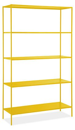 Slim shelves in many colors from Room & Board...nice!Art Room