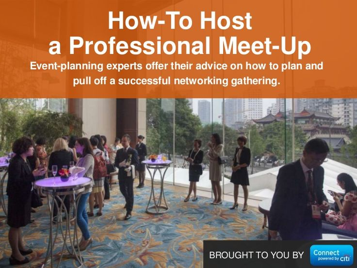 How to Host a Networking Event by Connect: Professional Women's Network via slideshare