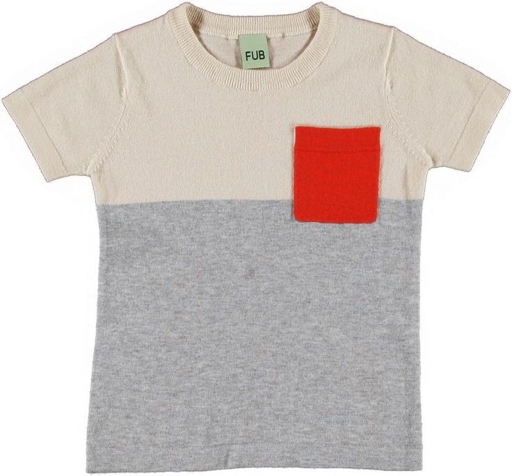 FUB - T-shirt Ecru/Grey