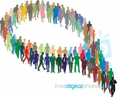 """""""A Large Group Of People In The Form Of Bubble"""" by Vlado at FreeDigitalPhotos.net"""