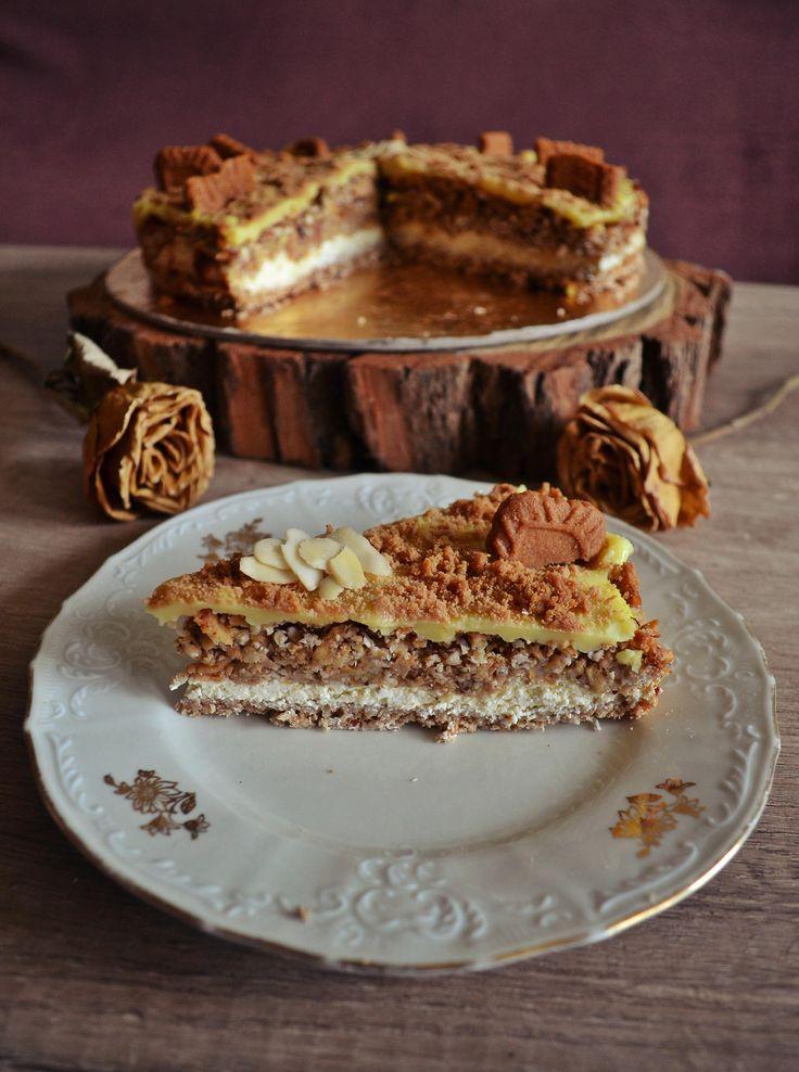 Vrstvený koláč s tvarohem, jablky a oříšky   sweet sweet and innocent