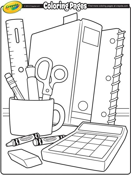 Back To School Coloring Page!
