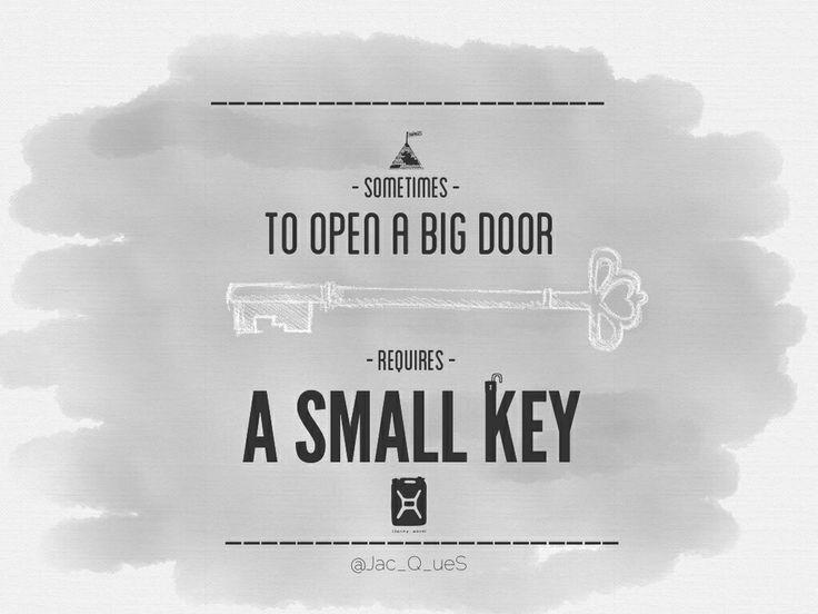Big door - small key