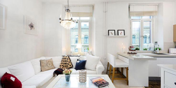 tiny apartment   Great interior design in this tiny apartment (33 m², 355ft ² ...