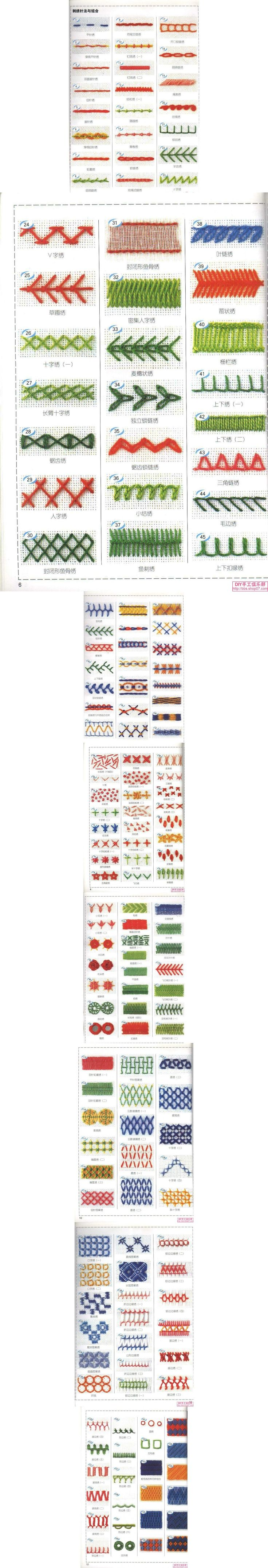 172 Embroidery Stitches and Combinations