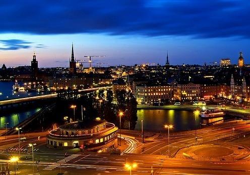 Sweden at night
