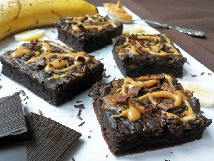 Zdravé brownies s arašidovým maslom (Recept)