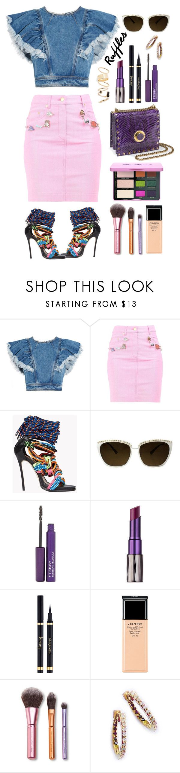 """""""92 Crazy Disco Night"""" by milva-bg ❤ liked on Polyvore featuring Philosophy di Lorenzo Serafini, Moschino, Dsquared2, Rebecca Minkoff, By Terry, Urban Decay, Shiseido and BP."""