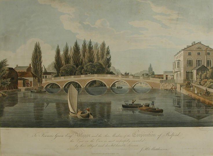 Bedford Town Bridge by J H Matthiason (1824)