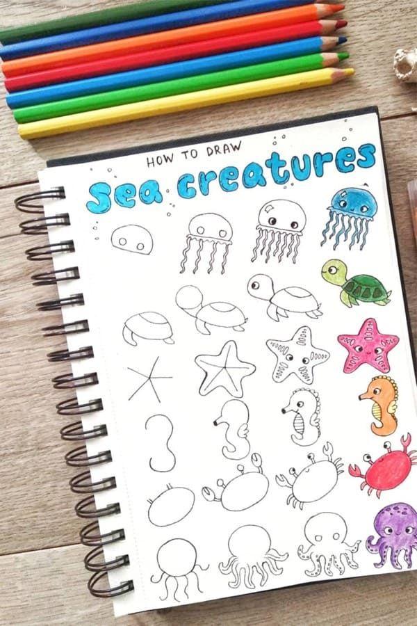 25 Best Step By Step Ocean Doodles For Bullet Journals Crazy Laura Bullet Journal Books Doodle Art Journals Bullet Journal Doodles