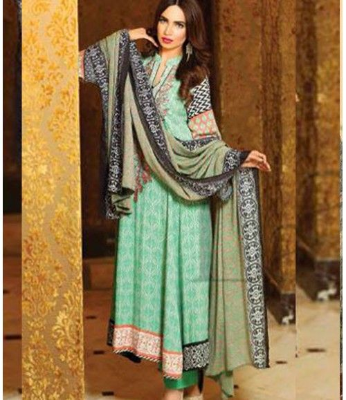 Lala Classic Embroidered Linen Suits collection LLE_05B