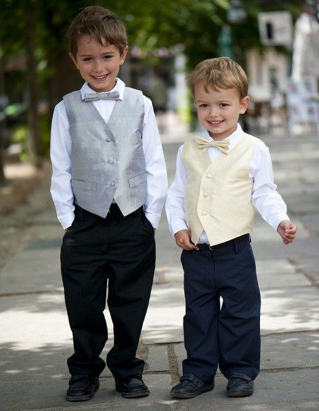 How gorgeous are our new Page Boy Outfits?! The Silk waistcoat & matching bow tie, formal shirt & trousers are all #handmade in the UK! Available to buy on our website!! #pageboys #weddings