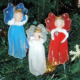 vintage ORNAMENTS  DARLING ANGELS Christmas by ThriftyDiversions, $24.00