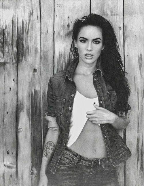 good gawd shes gorgeous Megan Fox- hair + denim #hot