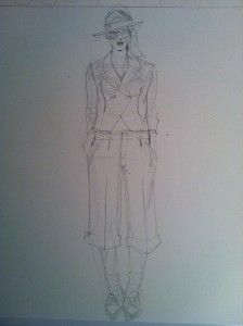 Laura Volpintesta Illustration of Alexandre Herchovitch SS 2007 suit #online fashion illustration and design INTENSIVE immersion course experience! Check it out!! I'm here for you. $750 tuition for a limited time includes your art supplies for fashion designers kit shipped to you. 15 week online semester created by Parsons fashion faculty of 17 years.