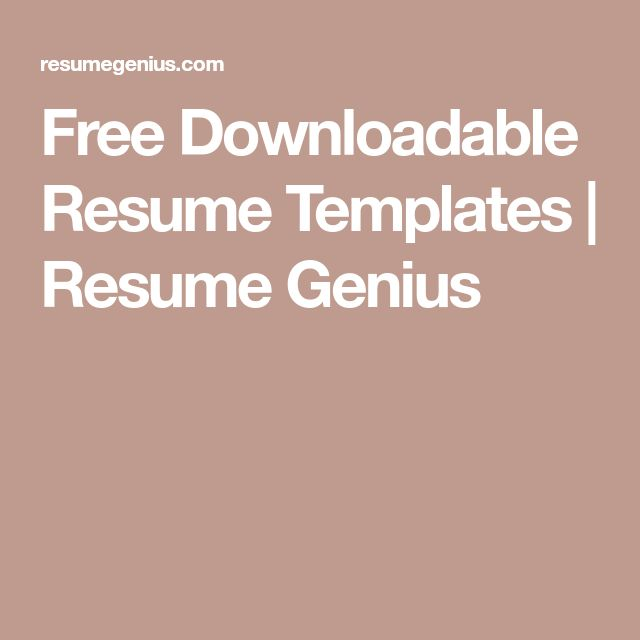 25+ unique Resume templates free download ideas on Pinterest Cv - resume free