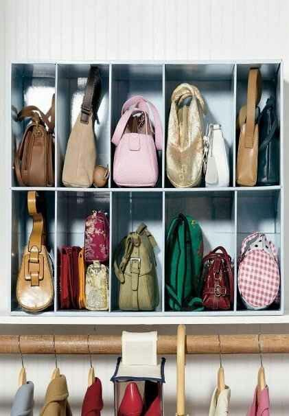 Hand bag storage...Could easily diy