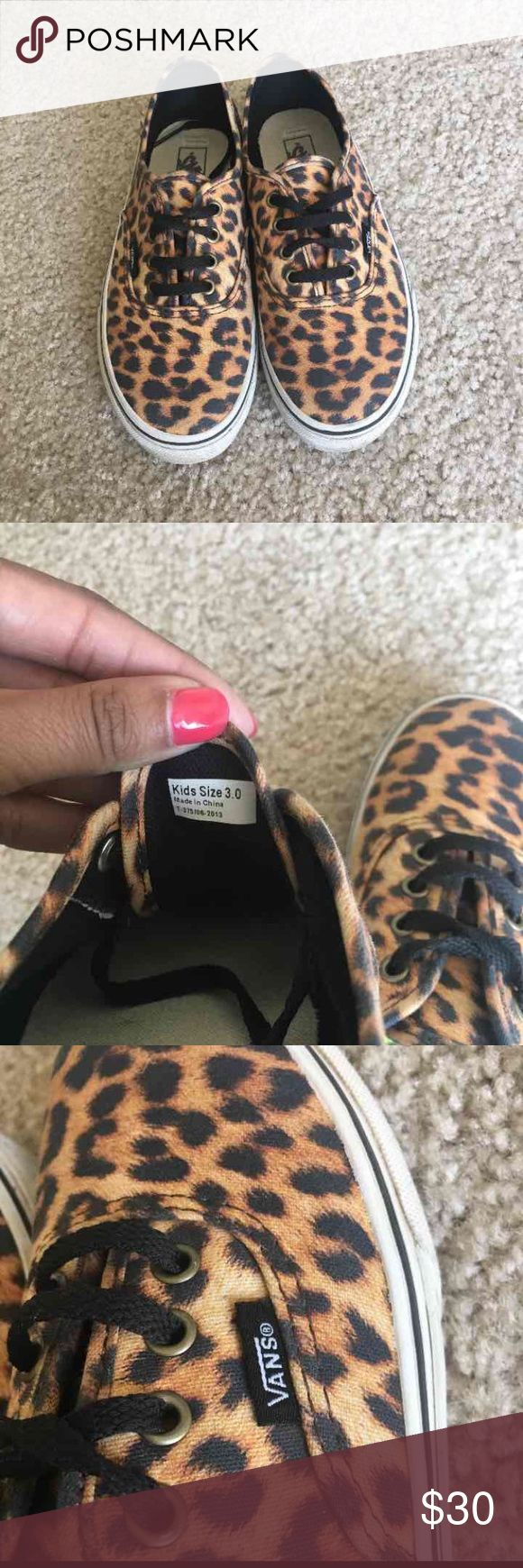 Leopard Vans Shoes are in Greta shape except the vans logo on the back Vans Shoes Sneakers