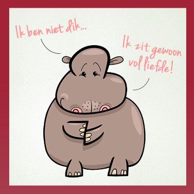 Ik ben niet dik, ik zit gewoon vol liefde! ;-) #WeightWatchers #WWhumor