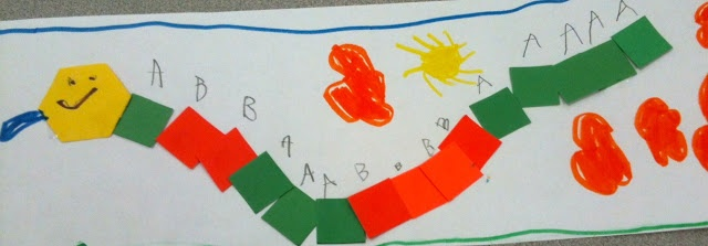 Kindergarten Patterns - Growing Pattern Snake