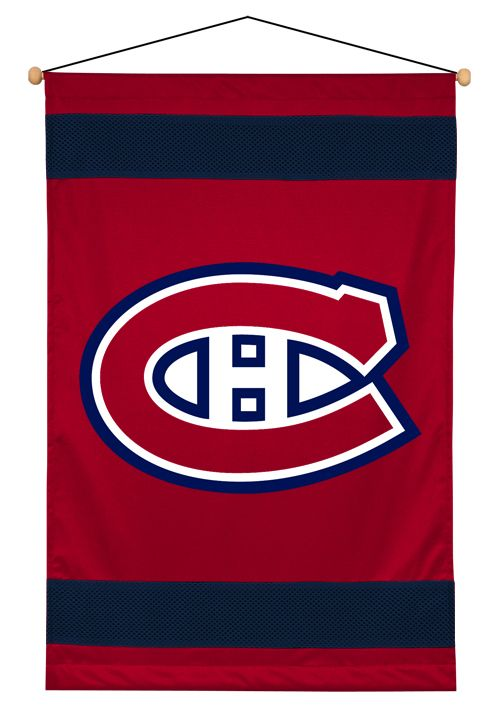 Montreal Canadiens Wall Hanging | Montreal Canadiens Sidelines Wall Hanging  $29.95 at mysportsdecor.com  #montrealcanadiens #canadiens #canadiensbanner #canandiensflag