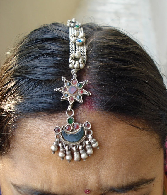 indian bellydance hair jewelry