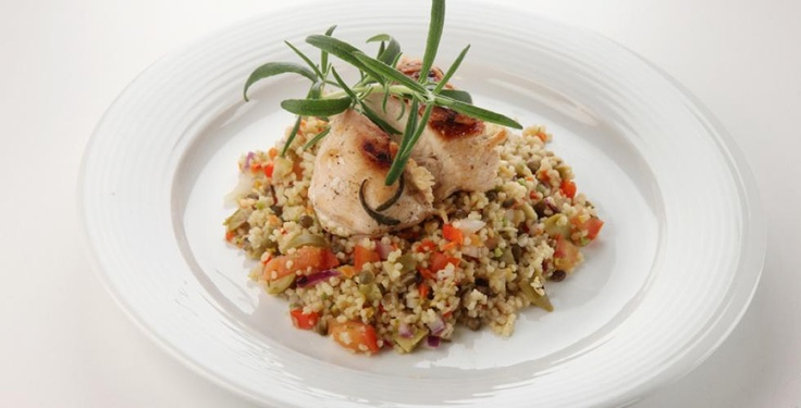 Marinert kyllingbryst med grønnsaks-couscous > Oppskrift | Dinmat.no