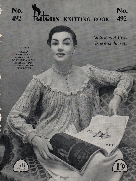 Vintage 1940s Knitting Patterns Book by allthepreciousthings
