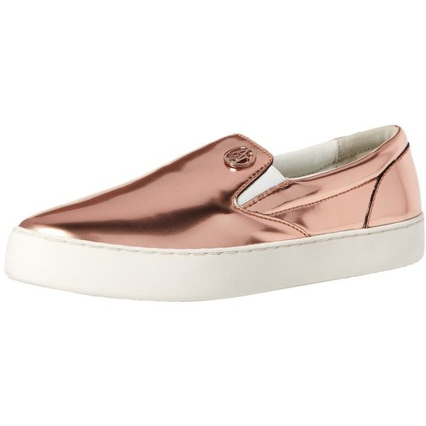 Armani Jeans Women's Armani Jeans Slip On Fashion Sneaker ($200) ❤ liked on Polyvore featuring shoes, sneakers, armani jeans shoes, slip on sneakers, slip on trainers, pull on shoes and slip on shoes