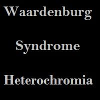 Waardenburg syndrome is a genetic disease (parent to child) due to waardenburg syndrome condition occur many symptoms hearing loss and due to variation in pigmentation discolouring occurs in hair, eyes, skin.
