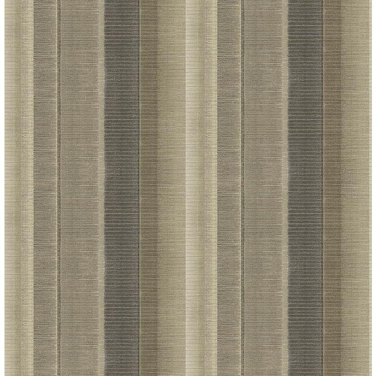 8 in. x 10 in. Flat Iron Taupe (Brown) Stripe Wallpaper Sample
