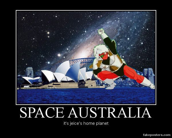 SPACE AUSTRALIA #TeamFourStar   DBZ   Pinterest ...