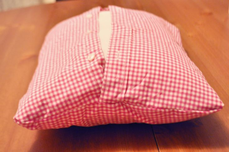 Ducklings In A Row - Hair + DIY Tutorials: DIY Pillows Made from Daddy's Shirts. Great memory pillow for someone who passed.