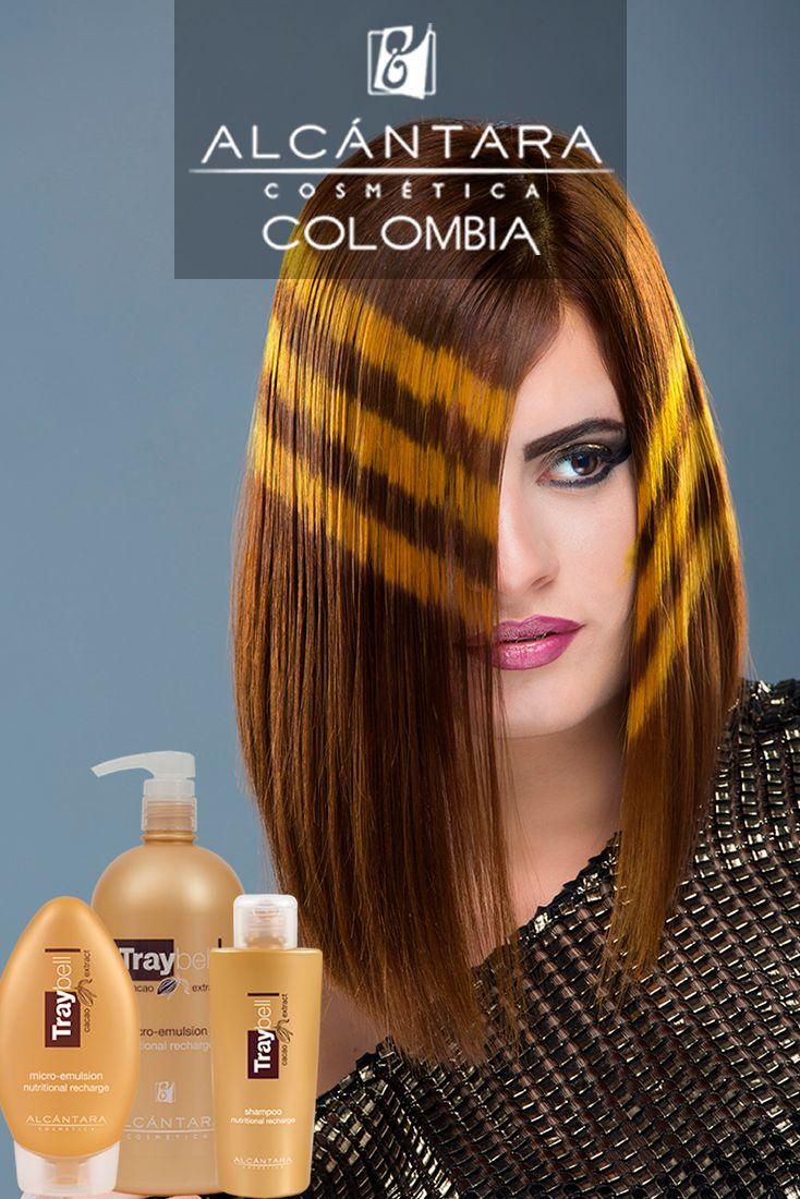 Traybell Shampoo #CacaoExtract  Contiene polifenoles que nutren y fortalecen el cabello Traybell Microemulsion  #CacaoExtract. Con pro-vitamina B5 que retiene la humedad en el interior del tallo capilar