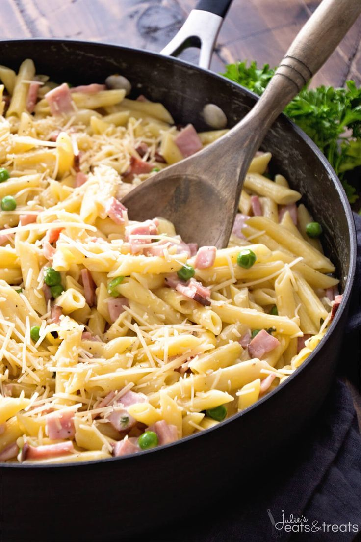 51 best leftover ham recipes images on pinterest rezepte cooking one pot ham penne skillet recipe delicious pasta perfect for a quick dinner forumfinder Images