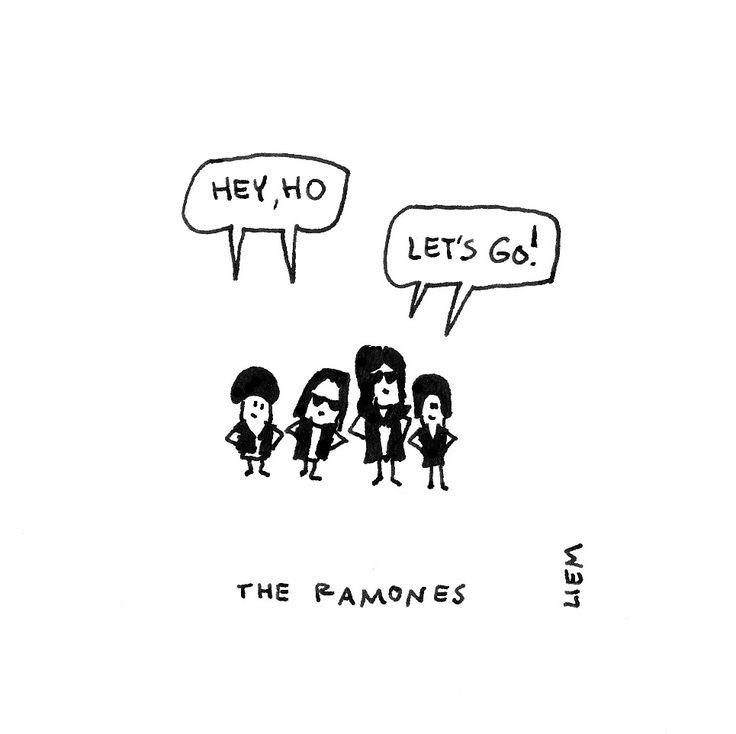 The ramones. Blitzkrieg Bop. 365 illustrated lyrics project, Brigitte Liem.