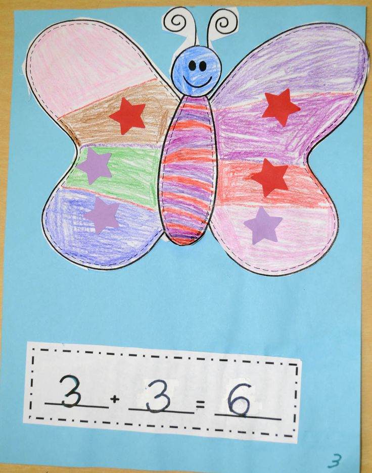 Mrs. Ricca's Kindergarten: More Addition Fun!Butterfly co-operative addition mat and activity