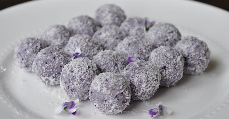 LCHF Blueberry Cheesecake Bliss Balls - raspberry instead of blueberry,  and milk coffee biscuits instead of coconut